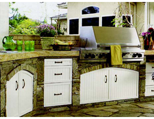 Outdoor Stone Kitchen by Advanced Plastic Fabrications